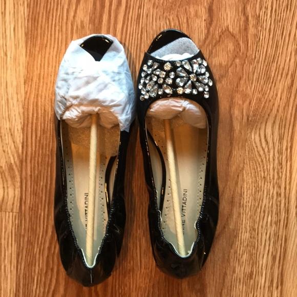 Adrienne Vittadini Shoes - Adrienne Vittadini Rhinestone Flats